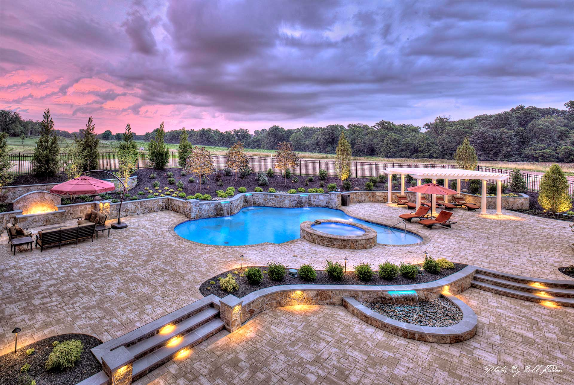 swimming pool hardscape patio builder howard county